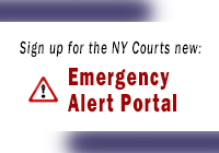 Sign up for the Courts new Emergency Alert Portal
