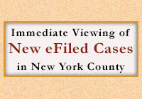 New eFiled Cases in New York County