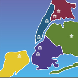 Map of NY City Counties